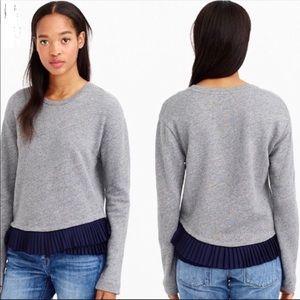 J. Crew Shirttail hem gray sweatshirt  size medium